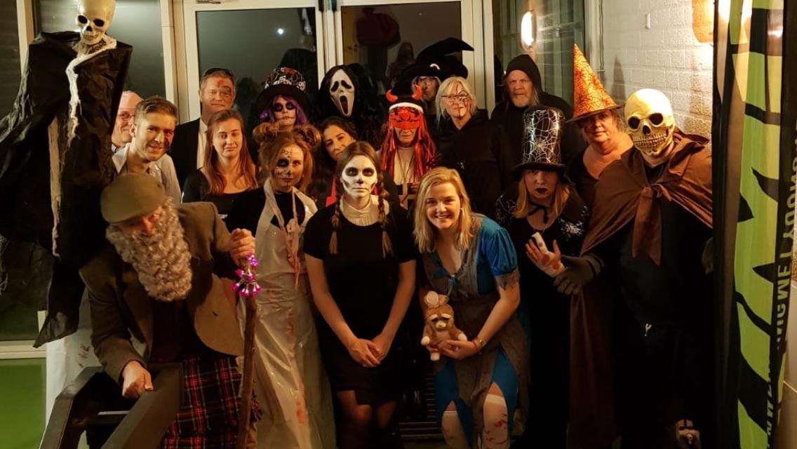 Halloweenfeest onderbouw groot succes