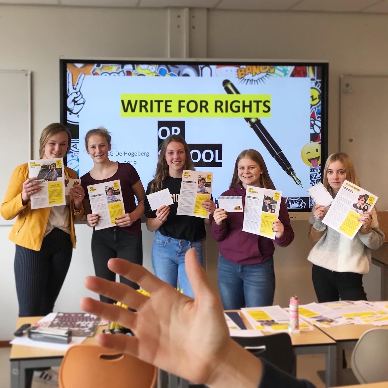 Schrijfmarathon Amnesty