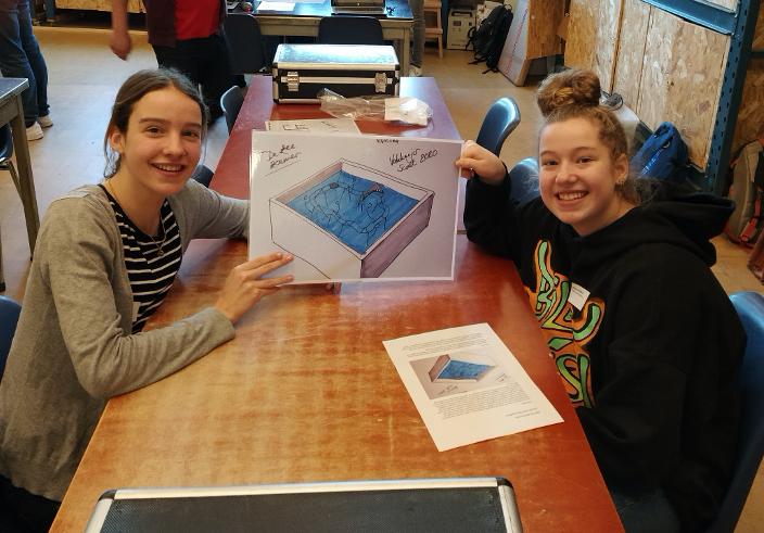 Leerlingen maken prototype voor Johan Cruyff Foundation
